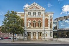 Façade de théâtre de Varbergs Images stock