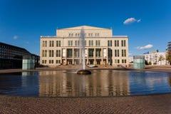 Façade de théatre de l'opéra de Leipzig Image stock