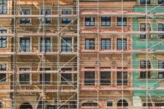 Façade de Varsovie de vieux bâtiments de ville Images stock