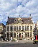 Façade de vieille maison de Guilde au marché à Brême photos stock