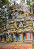 Façade de Vimanam court au temple de Shirangam Image stock