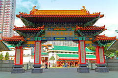 Façade de Wong Tai Sin Temple Photographie stock