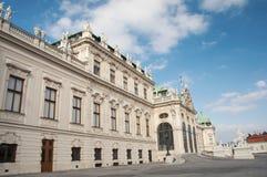 Façade du bâtiment de belvédère à Vienne Photo stock