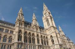 Façade du bâtiment de Rathaus à Vienne image stock