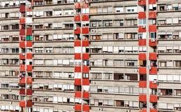 Façade du bâtiment reseidential Photo libre de droits