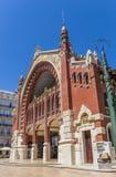 Façade du hall du marché de deux points de Mercado à Valence Photo stock