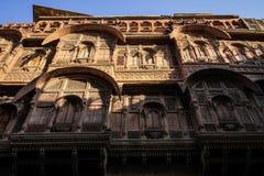 Façade du Mehrangarh Mehran Fort, Jodhpur, Ràjasthàn, Inde photos stock