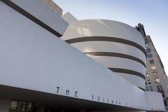 Façade du musée de Guggenheim, 19 décembre 2011 Photographie stock
