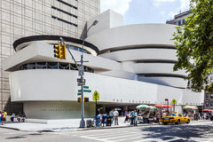 Façade du musée de Guggenheim Photographie stock