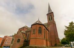 Façade du nord-ouest de cathédrale de confetti de St Photographie stock libre de droits