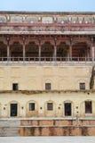 Façade du palais chez Amber Fort à Jaipur, Inde Photographie stock libre de droits