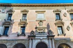Façade du palais de la BO, siège d'université de Padoue, Italie photo stock