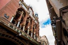 Façade du palais de la musique catalanne à Barcelone photos stock
