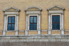 Façade du Palazzo Farnese Photos libres de droits