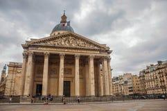 Façade du Panthéon dans le style néoclassique, avec le dôme et les colonnes à l'entrée à Paris image libre de droits