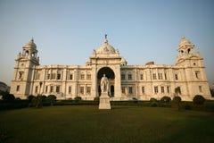 Façade du Victoria Kolkata commémoratif Inde Images libres de droits