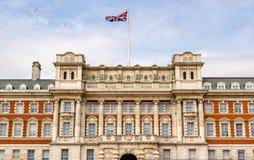 Façade du vieux bâtiment d'Amirauté - Londres Photos stock