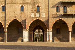 Façade ducale de palais dans la ville du mantua Photo libre de droits