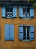 Façade en bois médiévale Mirapoix France du sud photo libre de droits