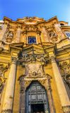 Façade en dehors de Santa Maria Maddalena Church Rome Italy Photos stock