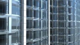 Façade en verre blanc de l'immeuble de bureaux illustration stock