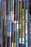 Façade en verre colorée, abrégé sur architecture Images stock