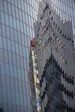 Façade en verre de bâtiment Photos stock