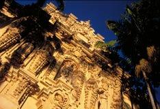 Façade est de Casa del Prado, stationnement de balboa, San Diego Photographie stock libre de droits
