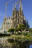 Façade est de Sagrada Família Images libres de droits