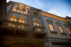 Façade et groupe extérieur, hôtel vénitien images libres de droits