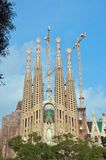 Façade familière de passion de Sagrada Photo libre de droits