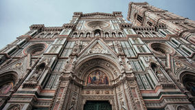 Façade of Florence cathedral. Horizontal royalty free stock photo