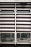 Façade futuriste en métal Photo libre de droits