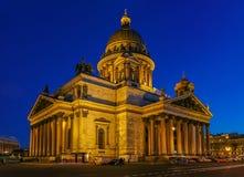 Façade lumineuse de saint Isaac& x27 ; cathédrale de s dans le St Petersbourg, Russie photo libre de droits
