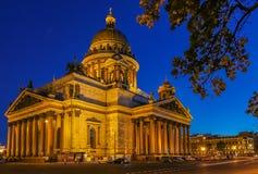 Façade lumineuse de saint Isaac& x27 ; cathédrale de s dans le St Petersbourg, Russie image libre de droits
