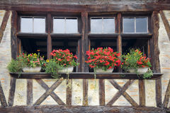 Façade médiévale (France) Photos stock