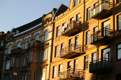 Façade Malmö de construction vivant photo libre de droits