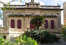 Façade maltaise typique de villa Photographie stock