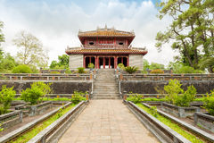 Façade of Minh Lau Pavilion, Salutation Court. Royalty Free Stock Image