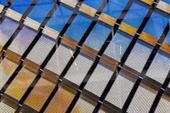 Façade moderne de construction Texture de Metall photos libres de droits