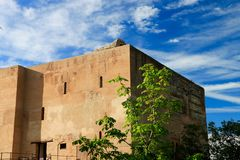 Façade of a monument in The historic site of Alhambra , Grenada , Spain Stock Images