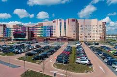Façade néerlandaise colorée d'hôpital Photos libres de droits