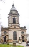 Façade occidentale de cathédrale de Birmingham Photo stock