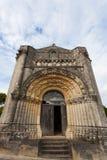 Façade occidentale de Notre-Dame de l'Assomption de Feniouxchurch, XI Images stock