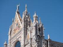 Façade occidentale de Siena Cathedral Photographie stock libre de droits