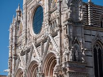 Façade occidentale de Siena Cathedral Image stock