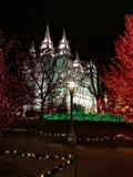 Façade occidentale de temple mormon de Salt Lake City LDS images stock