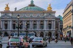The façade of the Palais Garnier opera house. Famous architecture of Paris. 05.05.2008, Paris, France. The façade of the Palais Garnier opera house stock photography