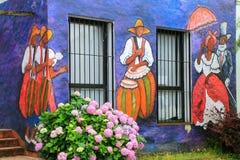 Façade peinte du bâtiment d'association d'artistes visuels dans Colonia Images libres de droits