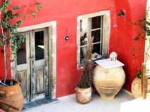 Façade rosso della casa Immagine Stock Libera da Diritti